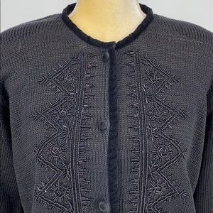 Anthropologie Curio Embellished Sweater